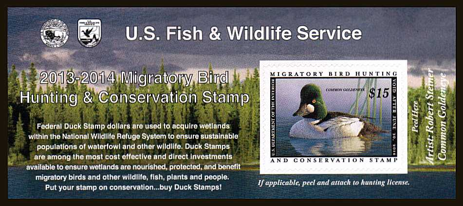 view larger image for Federal Ducks Federal Ducks: SG Number  / Scott Number $15 (2013) - Migratory Bird Hunting and Conservation Stamp<br/>