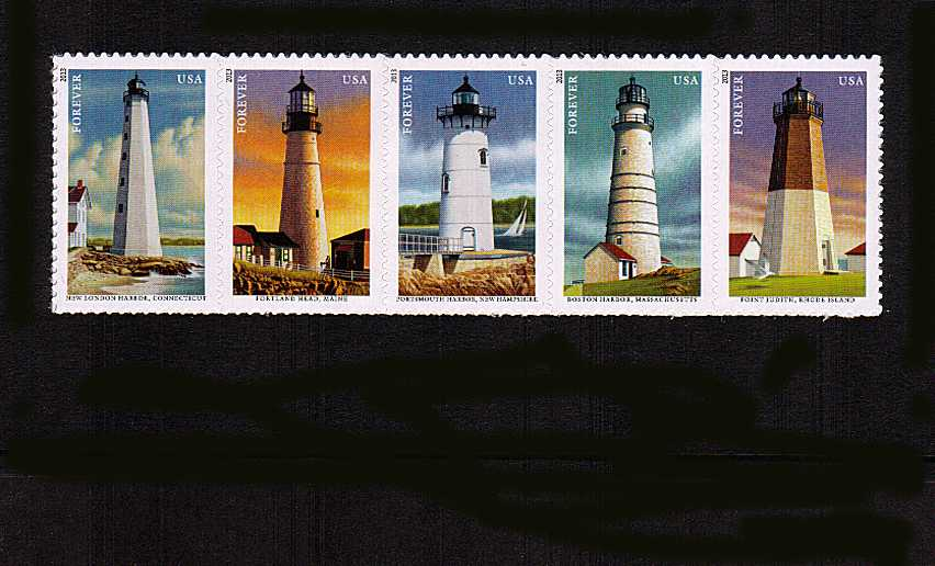 view larger image for  : SG Number 5417a / Scott Number 4795a (2013) - New England Coastal Lighthouses<br/>