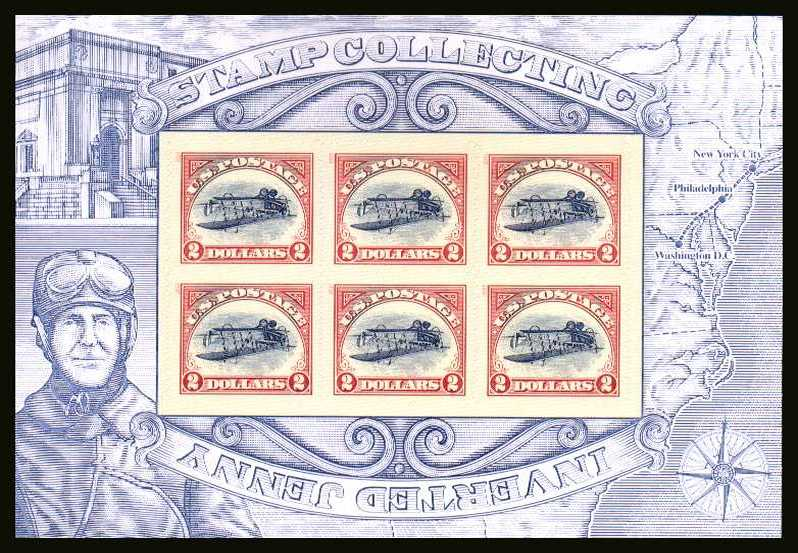 view larger image for  : SG Number MS5436 / Scott Number 4806 (2013) - Stamp Collecting - The Inverted Jenny<br/>