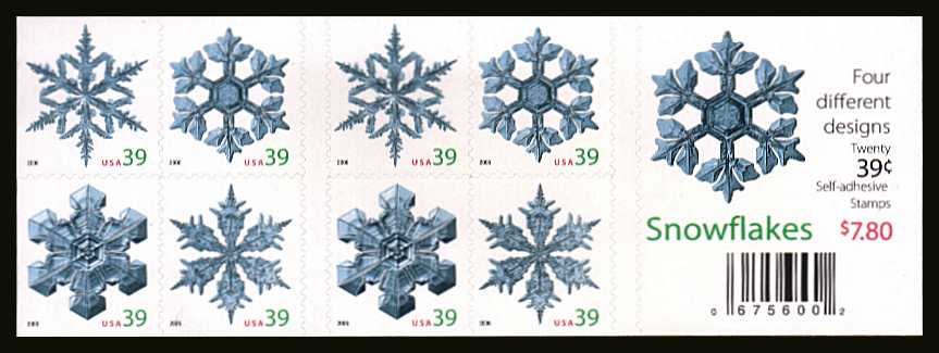 view larger image for Commemoratives 2006 - 2007 - Later Period Commemoratives: SG Number SB375 / Scott Number $7.80 - 5 October 2006 (2006) - Christmas - Snowflakes<br/>