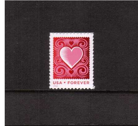 view larger image for  : SG Number 5461 / Scott Number 4847 (2014) - LOVE - Cut Paper Heart