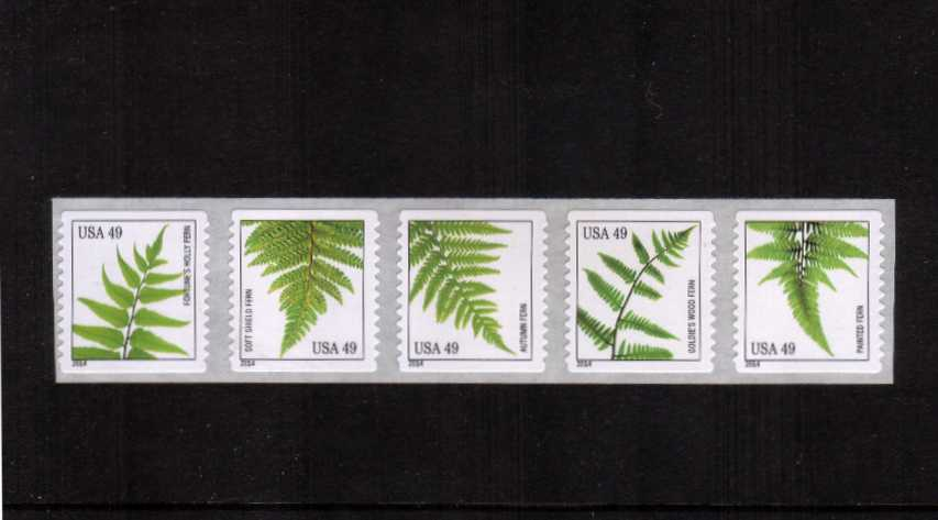 view larger image for  : SG Number 5462-5466 / Scott Number 4848-4852 (2014) - Ferns<br/>