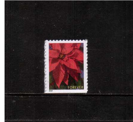 view larger image for  : SG Number 5537 / Scott Number 4816b (2014) - Christmas Poinsettia<br/>