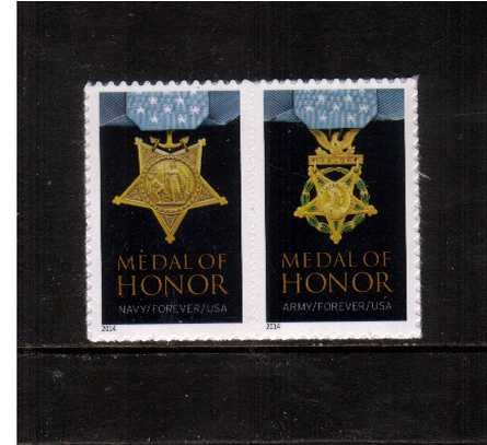 view larger image for  : SG Number  / Scott Number 4822a-4823a (2014) - Medal of Honor - Korean War<br/>