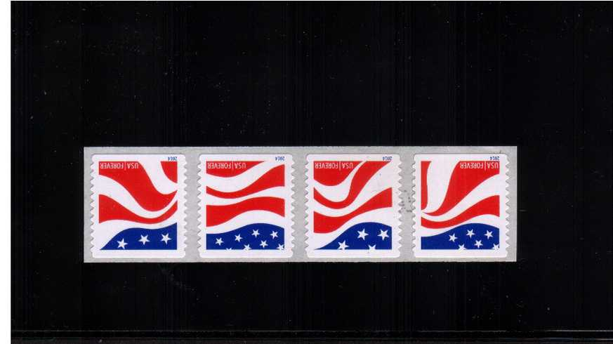 view larger image for  : SG Number 5508-5511 / Scott Number 4894-4897 (2014) - Red, White and Blue<br/>