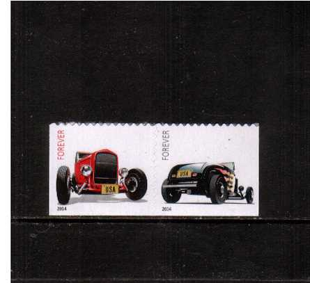 view larger image for  : SG Number 5523-5524 / Scott Number 4908-4909 (2014) - Hot Rods<br/>