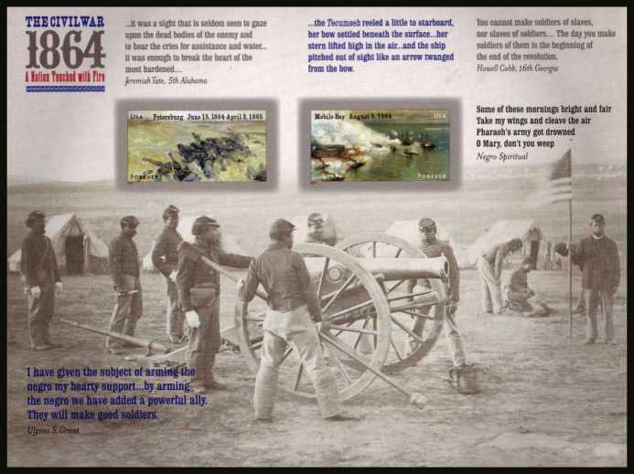 view larger image for  : SG Number MS5527 / Scott Number 4911v (2014) - Civil War Sesquicentennial - 4th Series<br/>