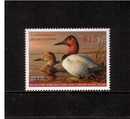 view larger image for Federal Ducks Federal Ducks: SG Number  / Scott Number $15 (2014) - Migratory Bird Hunting and Conservation Stamp<br/>