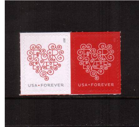 view larger image for  : SG Number  / Scott Number 4955-4956 (2015) - ''LOVE''<br/>