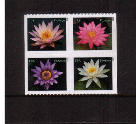 view larger image for  : SG Number  / Scott Number 4964-4967 (2015) - Water Lilies<br/>