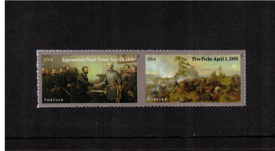 view larger image for  : SG Number  / Scott Number 4980-4981 (2015) - Civil War Sesquicentennial - 5th Series <br/>