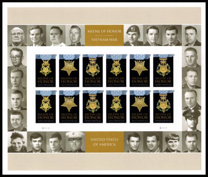 view larger image for  : SG Number  / Scott Number 4988av (2015) - Medal of Honor - Vietnam War