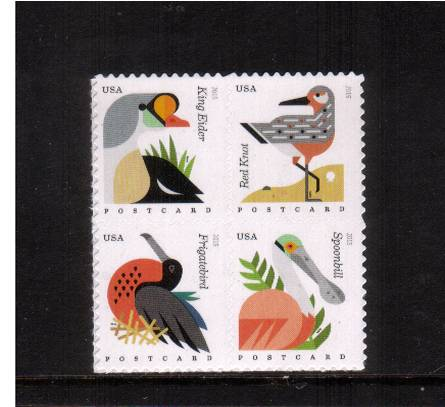 view larger image for  : SG Number  / Scott Number 4991-4994 (2015) - Coastal Birds <br/>