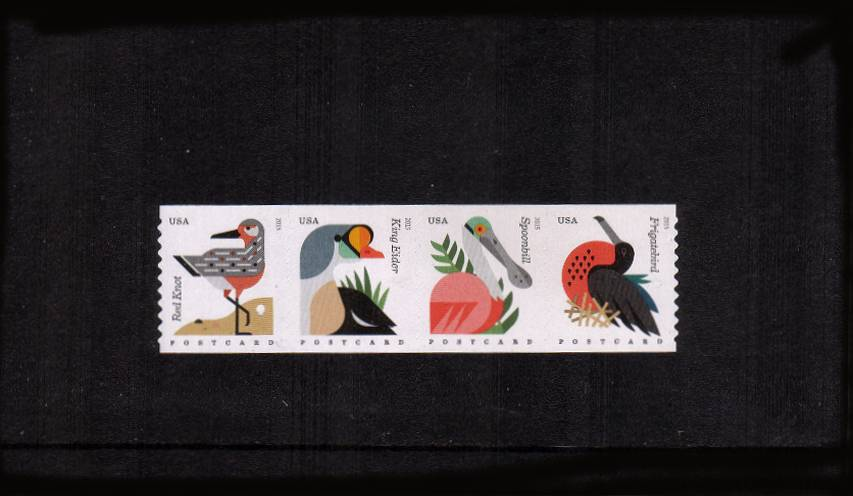 view larger image for  : SG Number  / Scott Number 4995-4998 (2015) - Coastal Birds<br/>
