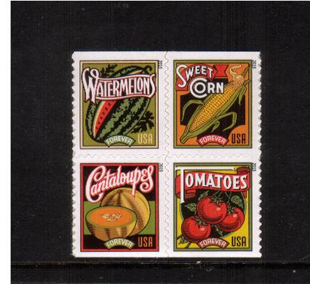 view larger image for  : SG Number  / Scott Number 5004-5007 (2015) - Summer Harvest<br/>