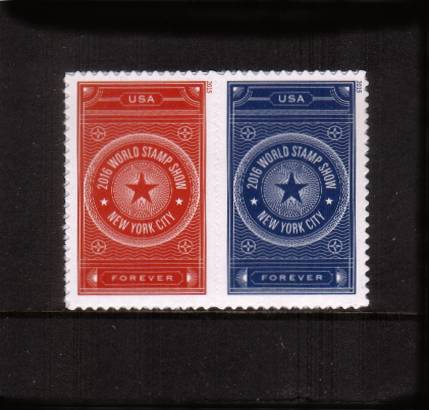 view larger image for  : SG Number  / Scott Number 5010-5011 (2015) - World Stamp Show-NY 2016<br/>