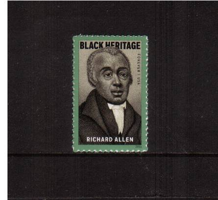 view larger image for Commemoratives 2015-2016 - Later Period Commemoratives: SG Number  / Scott Number 1st (49c) - 2 February 2016 (2016) - Black Heritage - Richard Allen