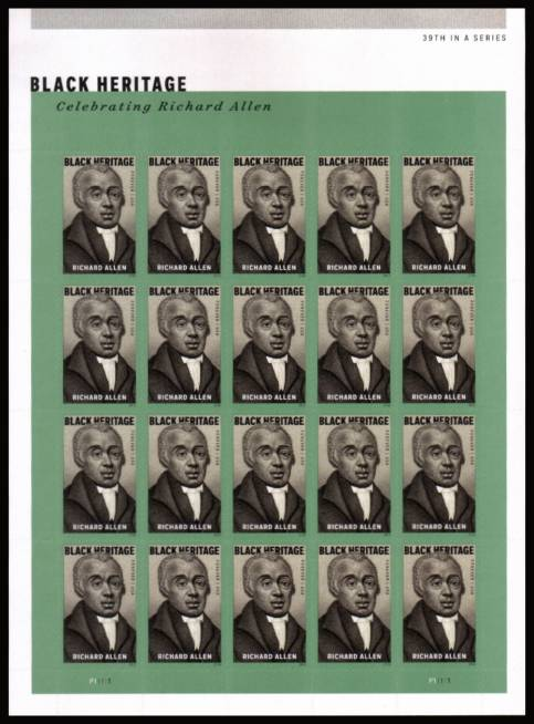 view larger image for New Issues New Issues: SG Number  / Scott Number 1st (49c x20) - 2 February 2016 (2016) - Black Heritage - Richard Allen<br/>