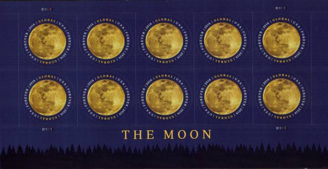 view larger image for Commemoratives 2015-2016 - Later Period Commemoratives: SG Number  / Scott Number GLOBAL ($1.20 x10) - 22 February 2016 (2016) - The Moon<br/>