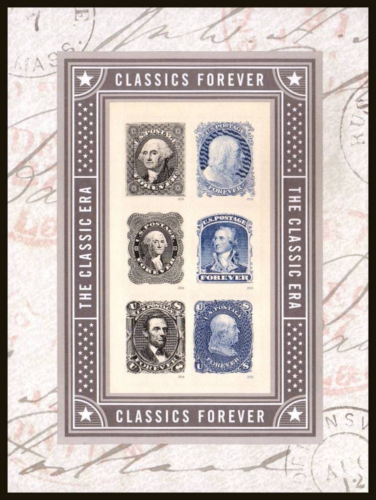 view larger image for Commemoratives 2015-2016 - Later Period Commemoratives: SG Number  / Scott Number 1st (46c x6) - 1 June 2016 (2016) - Classics Forever<br/>