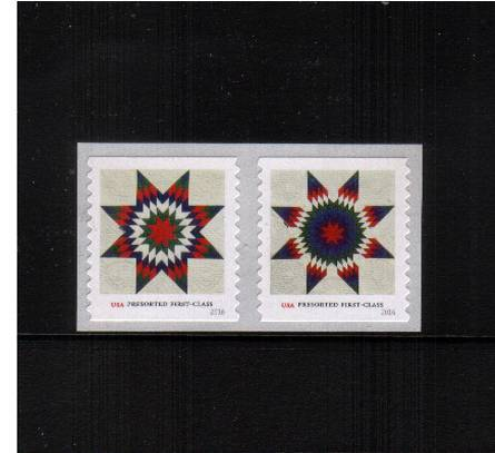 view larger image for Commemoratives 2015-2016 - Later Period Commemoratives: SG Number  / Scott Number NON DENOMINATED (25c x2) - 6 July 2016 (2016) - Star Quilts<br/>