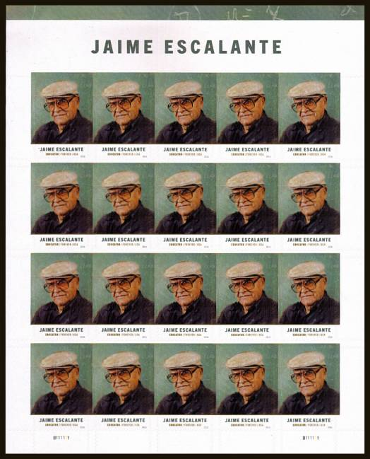 view larger image for Commemoratives 2015-2016 - Later Period Commemoratives: SG Number  / Scott Number 1st (47c x20) - 13 July 2016 (2016) - Jaime Escalante - Educator<br/>