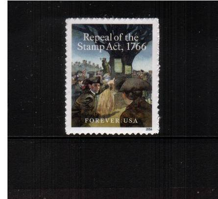 view larger image for Commemoratives 2015-2016 - Later Period Commemoratives: SG Number  / Scott Number 1st (47c) - 29 May 2016 (2016) - Repeal of the Stamp Act 1766<br/>