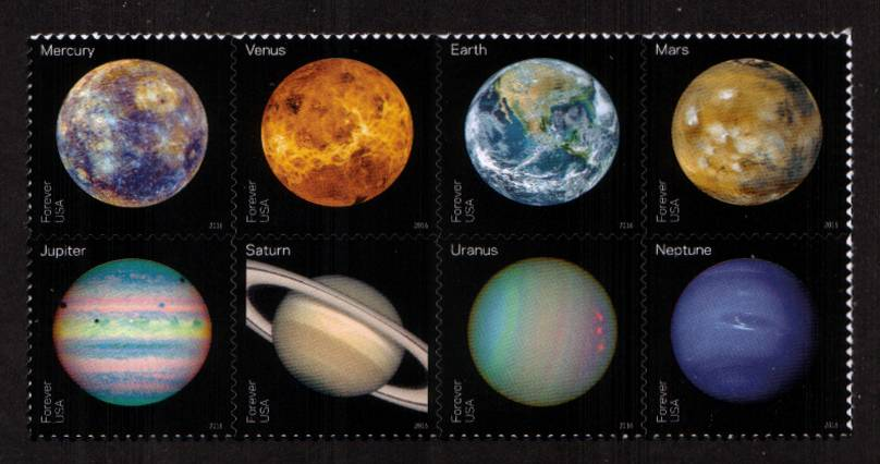 view larger image for Commemoratives 2015-2016 - Later Period Commemoratives: SG Number  / Scott Number 1st (47c x8) - 31 May 2016 (2016) - Views of Our Planets<br/>
