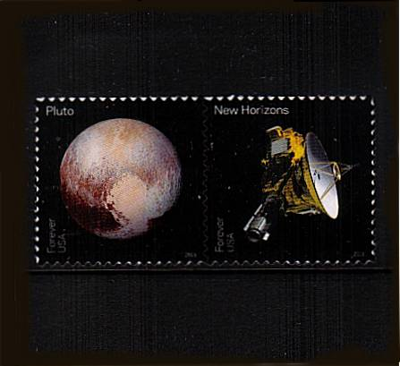 view larger image for Commemoratives 2015-2016 - Later Period Commemoratives: SG Number  / Scott Number 1st (47c x2) - 31 May 2016 (2016) - Pluto Explored<br/>