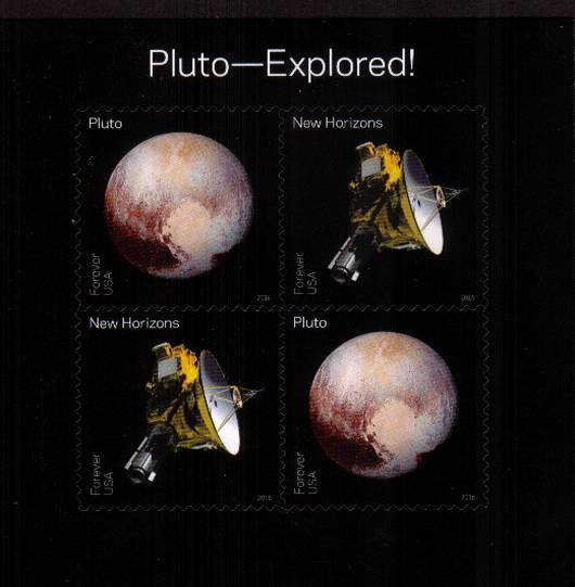 view larger image for Commemoratives 2015-2016 - Later Period Commemoratives: SG Number  / Scott Number 1st (47c x4) - 31 May 2016 (2016) - Pluto Explored<br/>