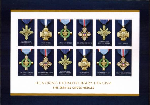 view larger image for Commemoratives 2015-2016 - Later Period Commemoratives: SG Number  / Scott Number 1st (47c x12) - 30 May 2016 (2016) - Honoring Extraordinary Heroism<br/>