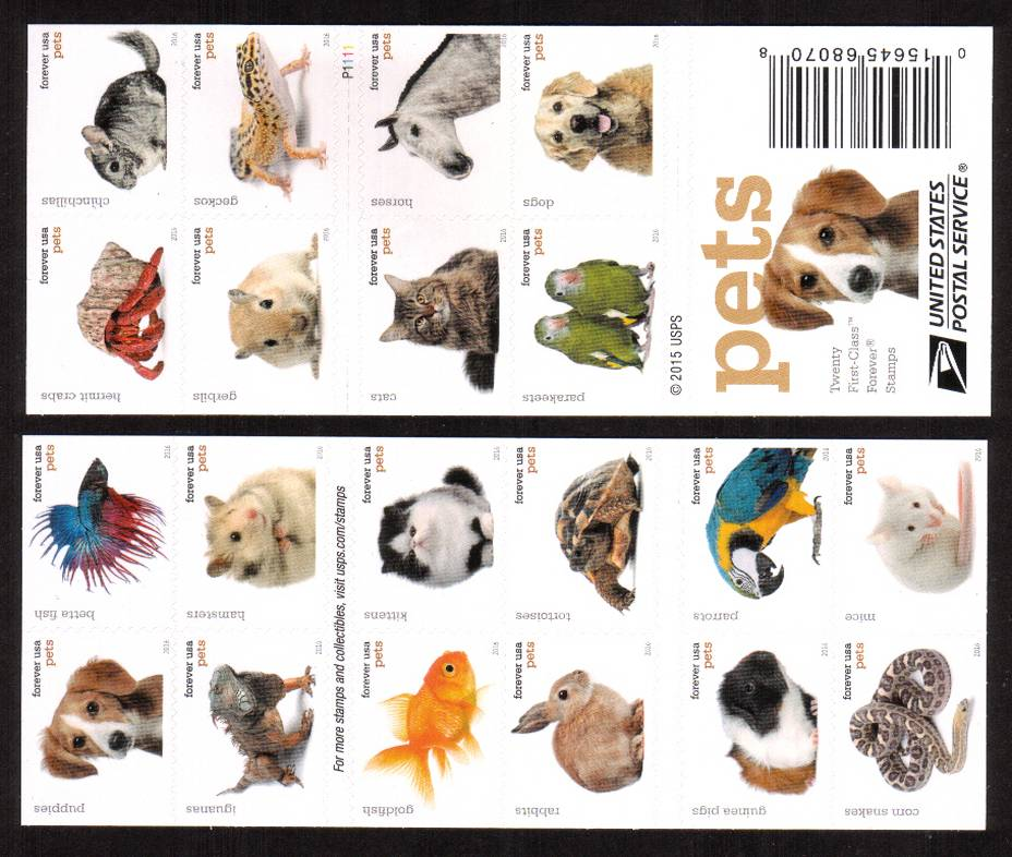 view larger image for Commemoratives 2015-2016 - Later Period Commemoratives: SG Number  / Scott Number 1st (47c x20) - ATM Flat Booklet - 2 August 2016