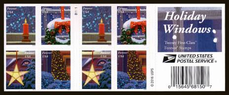 view larger image for Commemoratives 2015-2016 - Later Period Commemoratives: SG Number  / Scott Number 1st (47c x20) - ATM Flat Booklet - 6 October 2016