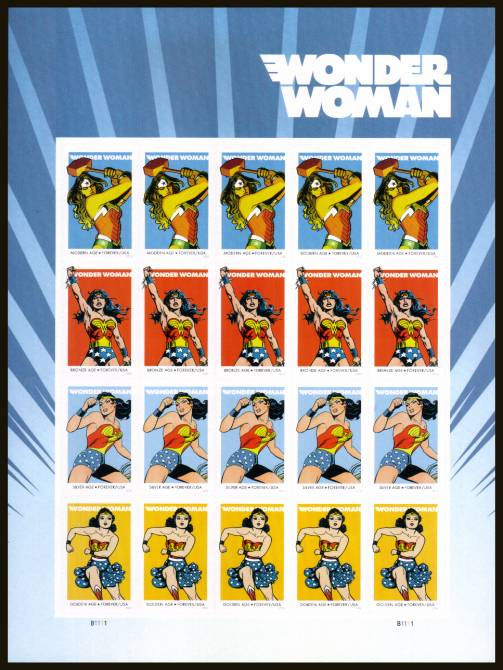 view larger image for Commemoratives 2015-2016 - Later Period Commemoratives: SG Number  / Scott Number 1st (47c x20) - 7 October 2016 (2016) - Wonder Woman<br/>