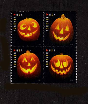 view larger image for Commemoratives 2015-2016 - Later Period Commemoratives: SG Number  / Scott Number 1st (47c x4) - 29 September 2016 (2016) - Jack O'Lanterns<br/>