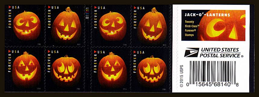 view larger image for Commemoratives 2015-2016 - Later Period Commemoratives: SG Number  / Scott Number 1st (47c x20) - ATM Flat Booklet - 29 September  2016