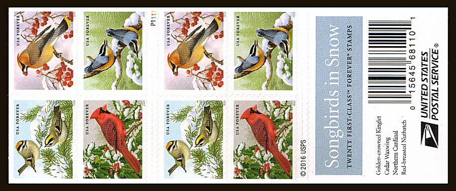 view larger image for Commemoratives 2015-2016 - Later Period Commemoratives: SG Number  / Scott Number 1st (47c x20) - ATM Flat Booklet - 4 August 2016 