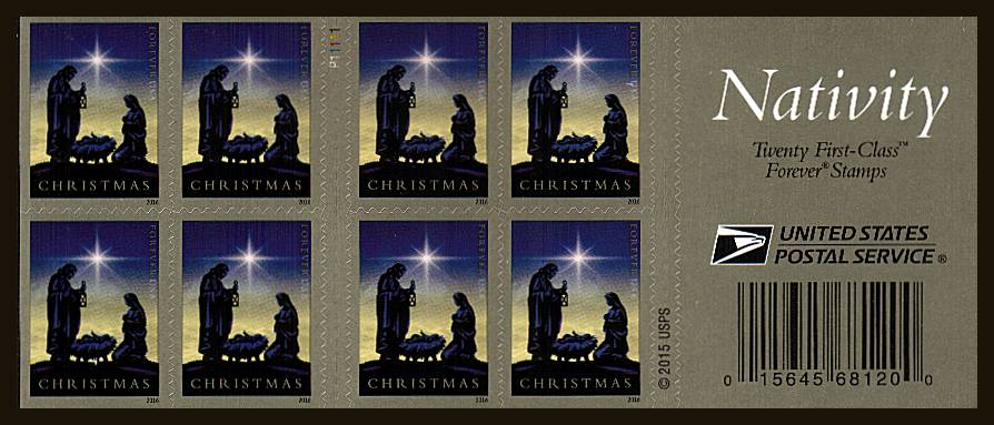 view larger image for Commemoratives 2015-2016 - Later Period Commemoratives: SG Number  / Scott Number 1st (47c x20) - ATM Flat Booklet - 3 November  2016 