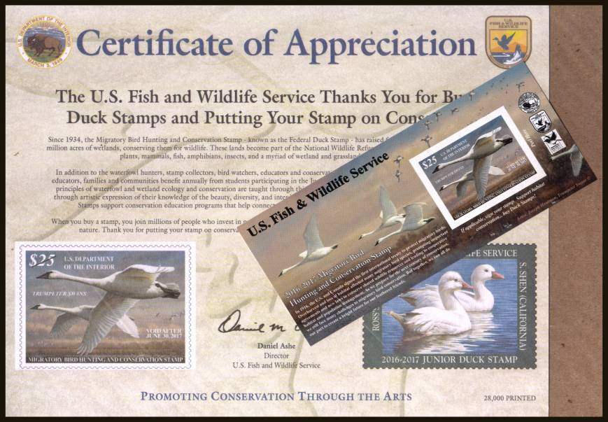 view larger image for Federal Ducks Federal Ducks: SG Number  / Scott Number $25 (2016) - Migratory Bird Hunting and Conservation Stamp Inscribed 'Void after June 30th, 2016'' <br/>