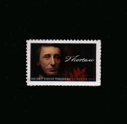 view larger image for  : SG Number  / Scott Number 5202 (2017) - Henry David Thoreau