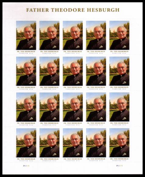 view larger image for  : SG Number  / Scott Number 5241v (2017) - Father Theodore Hesburgh<br/>